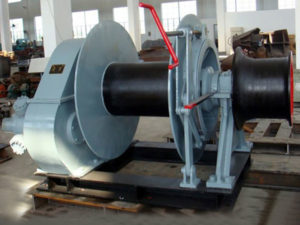 Single drum hydraulic marine winch from Sinma